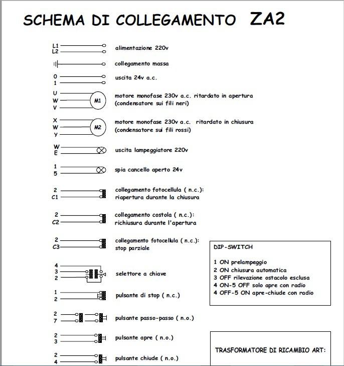 Came Za2 Schema Elettrico : Schema za il del telecomando di gianfranco caravelli